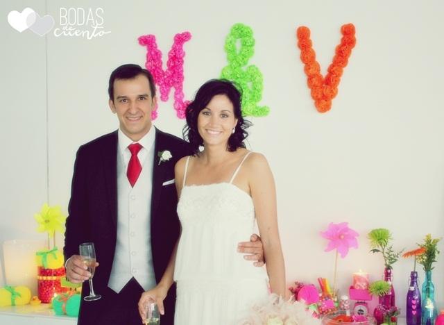 Pompones decoración bodas