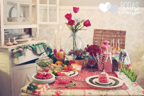 decoración de mesas inspiración mexicana