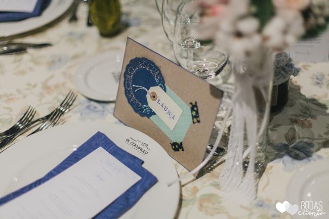 una boda decorada en azul marcasitios