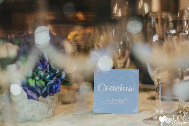 una boda decorada en azul gracias