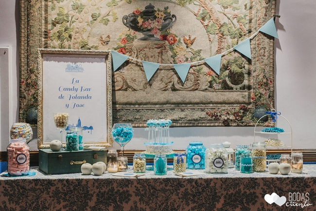 una boda decorada en azul candy