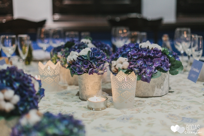 una boda decorada en azul wedding planner zaragoza