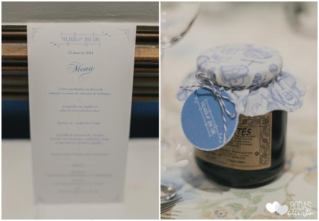 una boda decorada en azul minuta