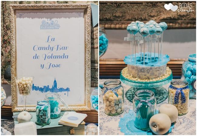 una boda decorada en azul la candybar