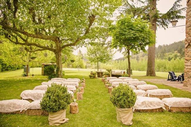 ceremonia boda campestre rústica inspiración italiana girona wedding planner barcelona Bodas de Cuento