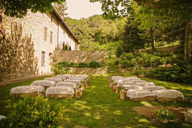 ceremonia boda rústica inspiración italiana wedding planner barcelona Bodas de Cuento