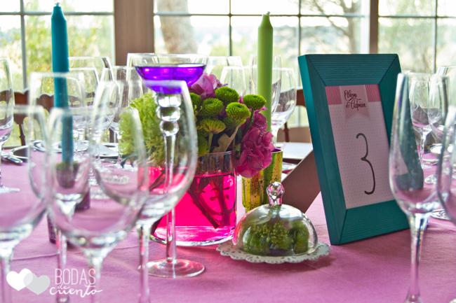 Decoración mesas, Bodas de Cuento wedding planner, Boda Madrid, Castillo de Viñuelas