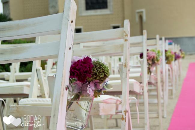 Decoración ceremonia, Bodas de Cuento, wedding planner, Boda Madrid