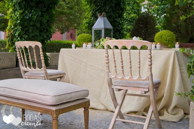 Ideas decoración ceremonia. Bodas de Cuento wedding planner boda Madrid