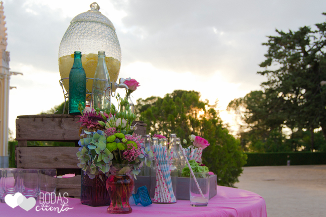Decoración mesas de limonada. Bodas de Cuento Madrid wedding planner