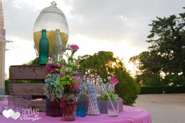 Decoración mesas de limonada. Bodas de Cuento Madrid wedding planner