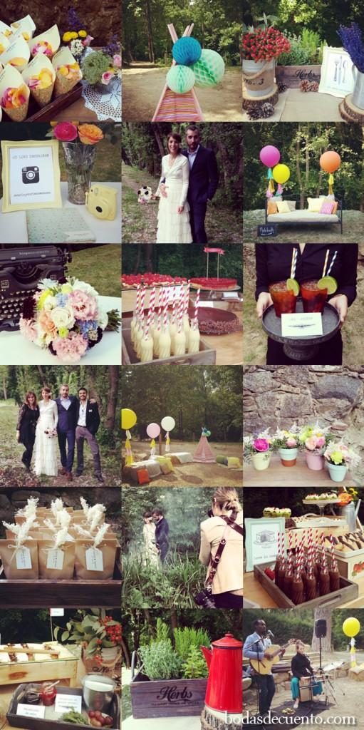 Organización y diseño: Bodas de Cuento, Boda en el bosque www.bodasdecuento.com
