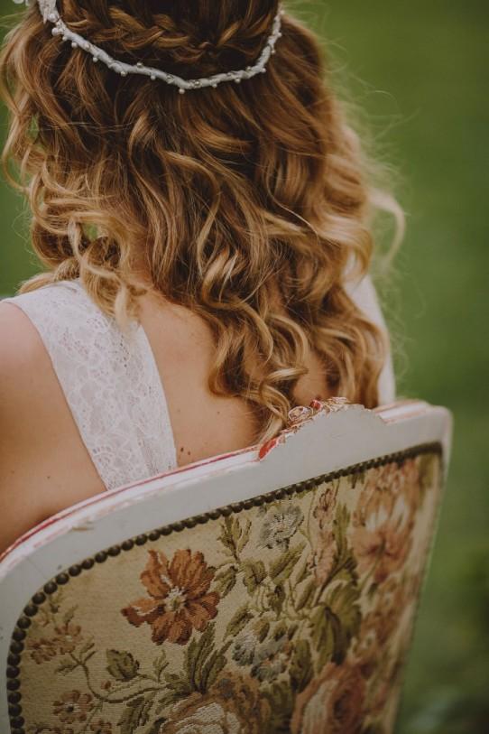 Peinado de novia con ondas www.bodasdecuento.com