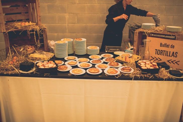 buffet de tortilla boda www.bodasdecuento.com