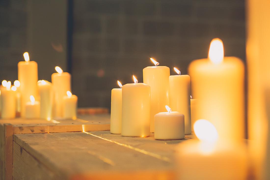 iluminación con velas bodas aragon www.bodasdecuento.com