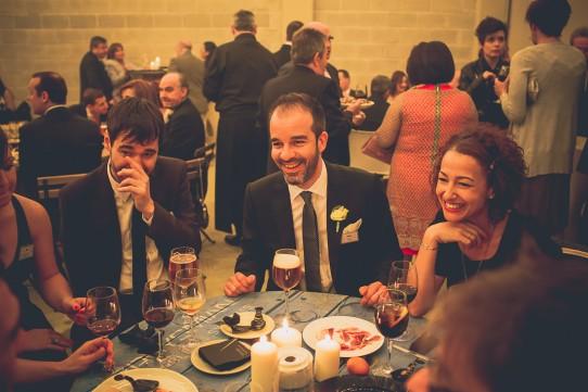 cena boda industrial www.bodasdecuento.com