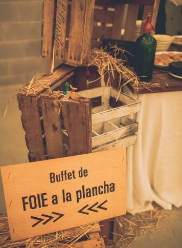 buffet de foie boda www.bodasdecuento.com