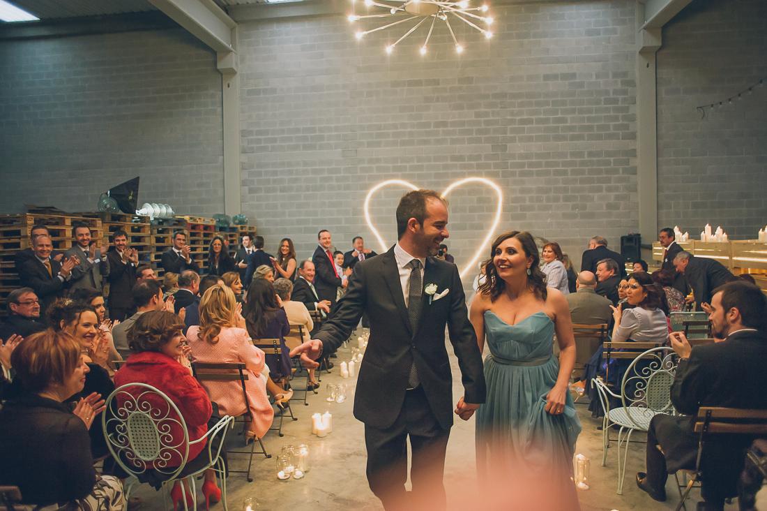 iluminación boda industrial www.bodasdecuento.com