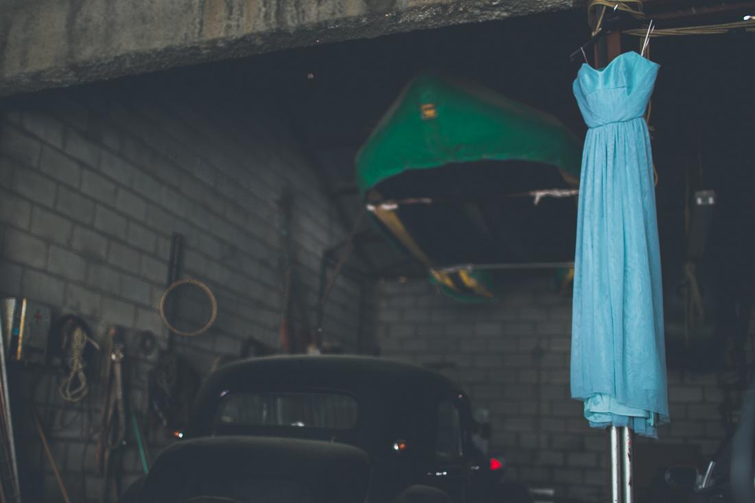 vestido de novia turquesa www.bodasdecuento.com