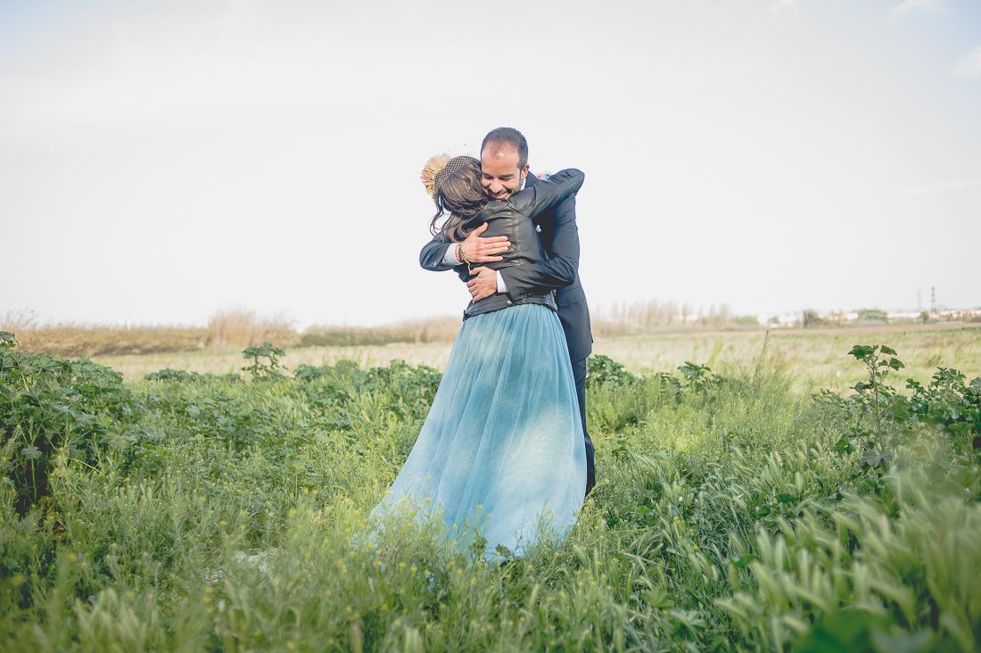 novia con vestido azul www.bodasdecuento.com