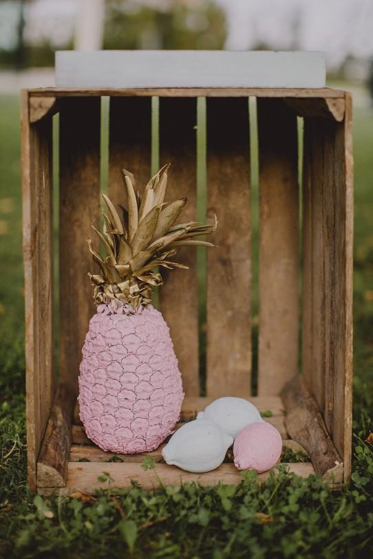 piña pintada wedding planner zaragoza www.bodasdecuento.com