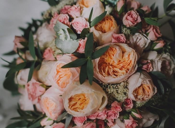 ramo de novia con rosas austin. wedding planner Bodas de Cuento www.bodasdecuento.com