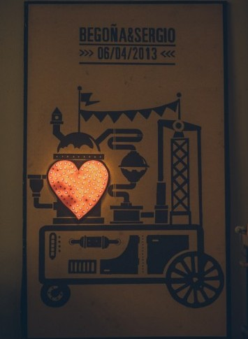 máquina amor boda industrial www.bodasdecuento.com