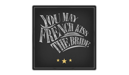 You may french kiss the bride