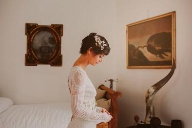 tocado novia www.bodasdecuento.com