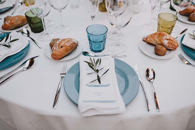 decoración mesa banquete www.bodasdecuento.com