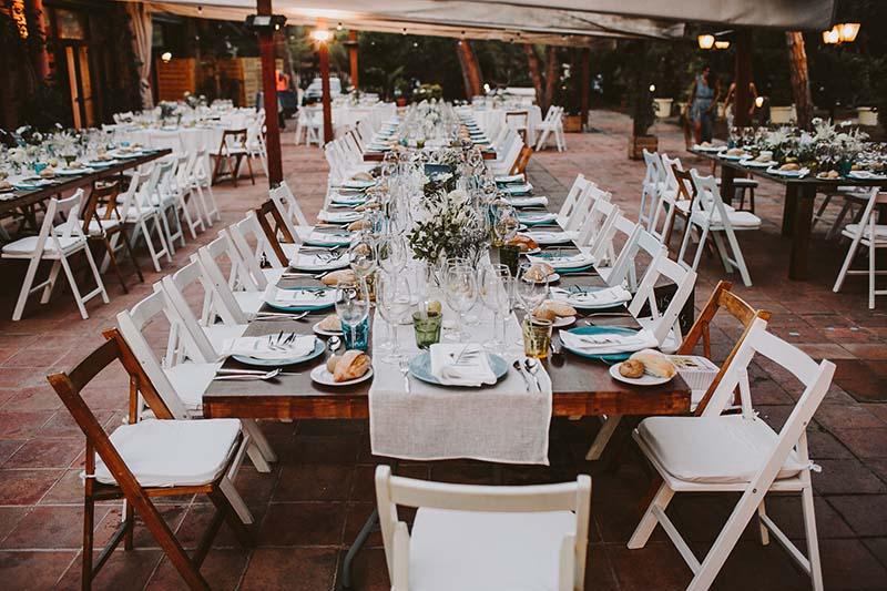mesas alargadas boda www.bodasdecuento.com