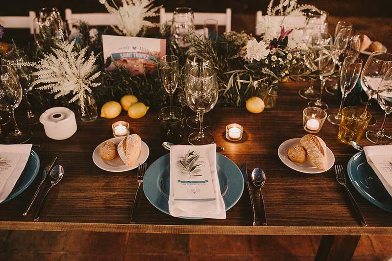 mesa boda estilo mediterraneo www.bodasdecuento.com