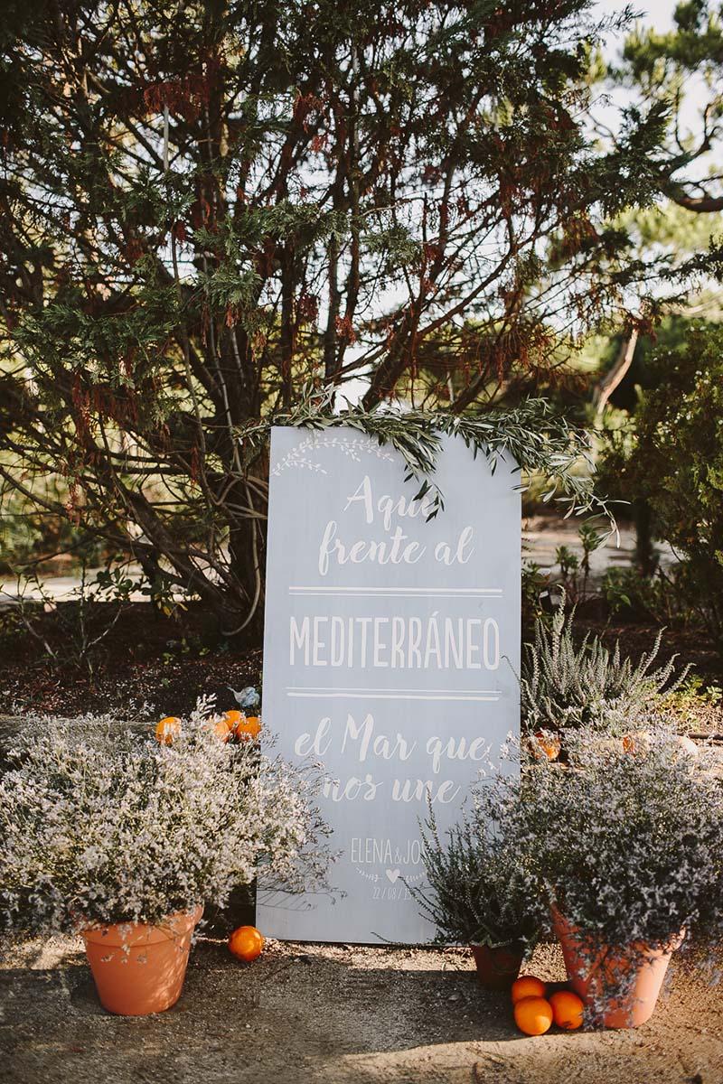 cartel madera boda www.bodasdecuento.com