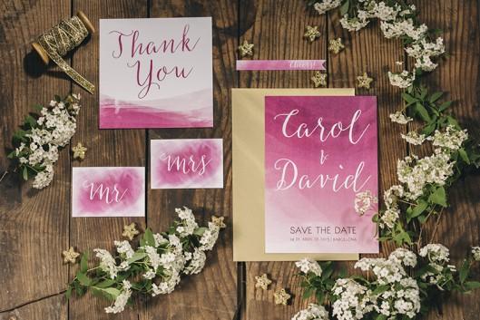 invitaciones boda rosa www.bodasdecuento.com