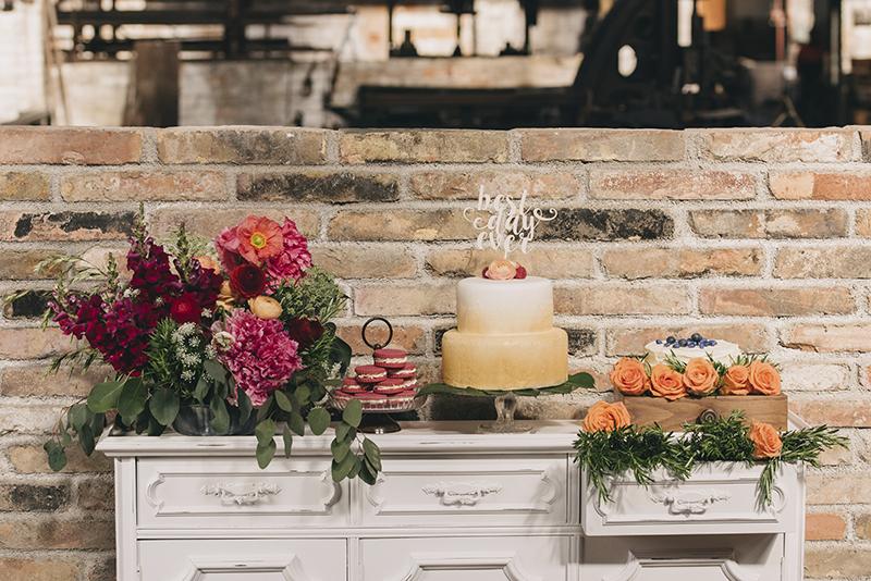 mesa dulce dorado y rosa www.bodasdecuento.com