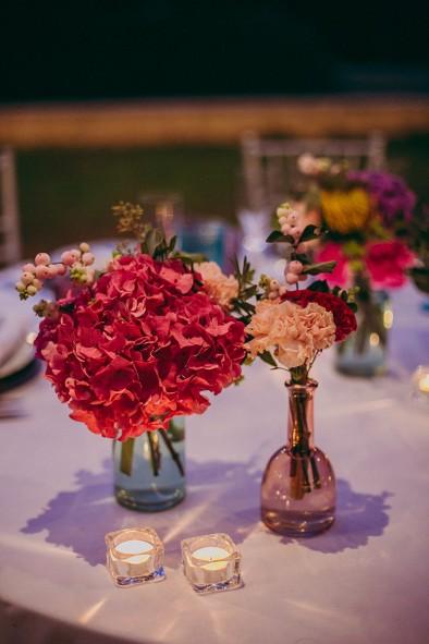 decoración mesas recepción invitados www.bodasdecuento.com