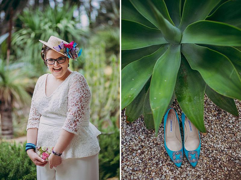novia-zapatos-azules www.bodasdecuento.com Foto de Paula G Furio