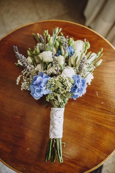 ramo novia azul www.bodasdecuento.com