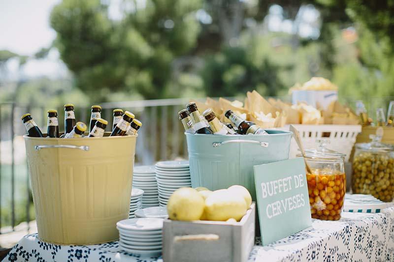buffet cervezas boda mediterranea www.bodasdecuento.com