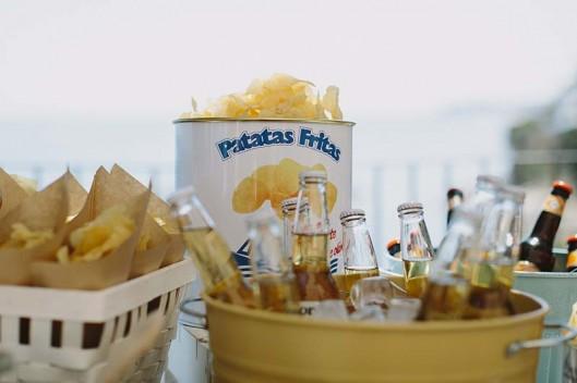 buffet cervezas y patatas boda www.bodasdecuento.com