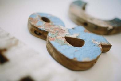 letra madera barco www.bodasdecuento.com