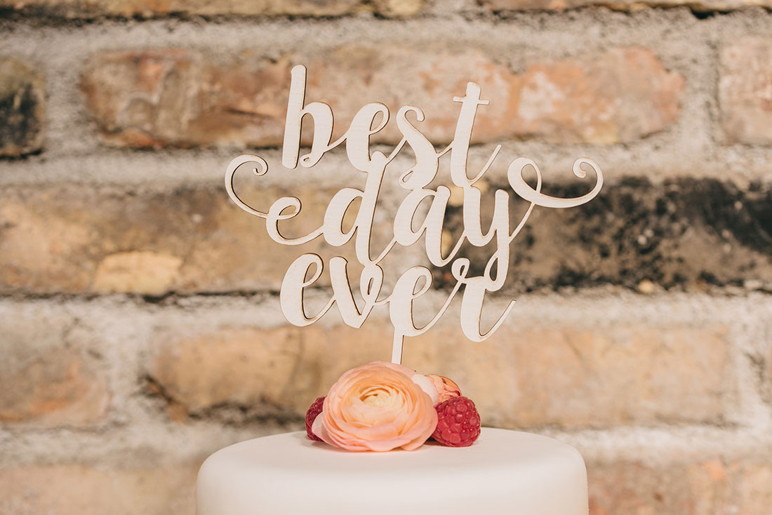 cake topper best day ever www.bodasdecuento.com