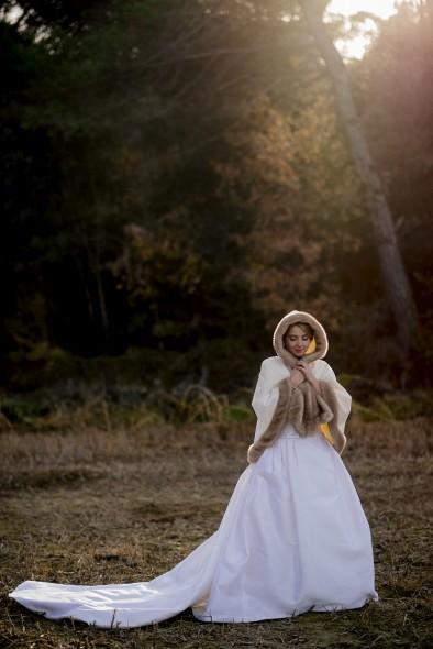 vestido novia invierno Rosa Clará www.bodasdecuento.com