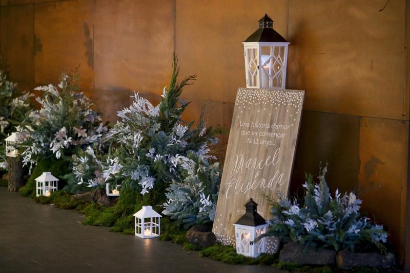 decoración boda invierno www.bodasdecuento.com
