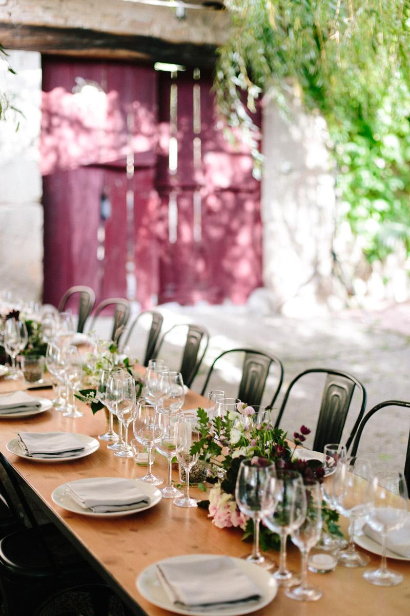 decoración mesa boda en el campo www.bodasdecuento.com