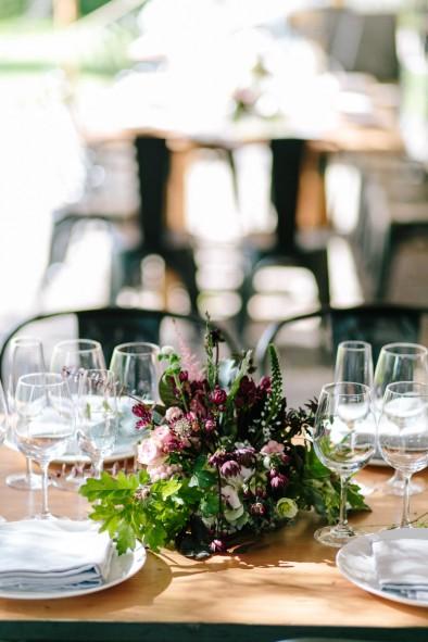 centro de mesa boda moderna www.bodasdecuento.com