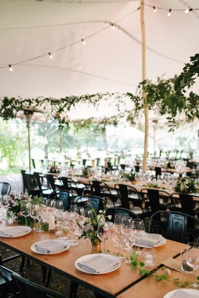 decoración banquete informal www.bodasdecuento.com