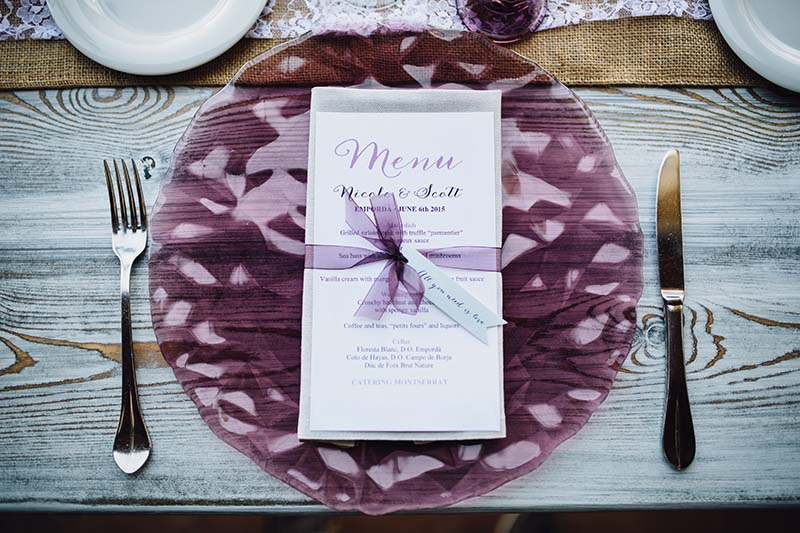 wedding table setting www.bodasdecuento.com