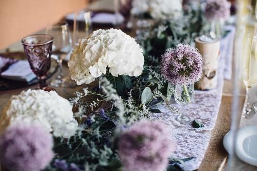 decoración boda hortensias www.bodasdecuento.com