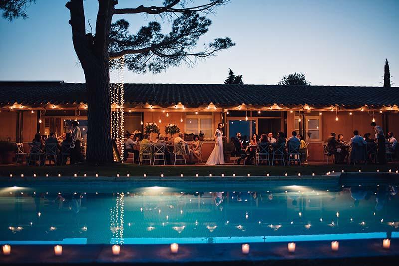 guirnaldas luz velas boda www.bodasdecuento.com